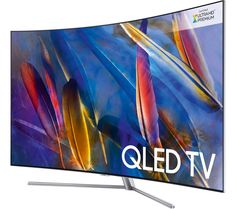 """Buy 65"""" SAMSUNG QE65Q7CAMT Smart 4K Ultra HD HDR Curved Q LED TV Price: £2499.00 Top features: - See more detail with incredible HDR 1500 technology - Spectacular picture quality with a Q processing engine - Curved screen immerses everyone in the action - 360 TV design adds style and lets you see more of the screen - Premium One remote control lets you control all your content and connected..."""