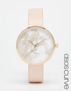 Imagen 1 de Reloj con esfera marmolada de ASOS CURVE