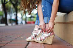 silver wedges for summer