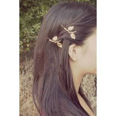 LUCLUC Exquisite Fashion Leaves Hair Accessories ($7.99) ❤ liked on Polyvore featuring accessories, hair accessories, hair, cheveux and leaf hair accessories