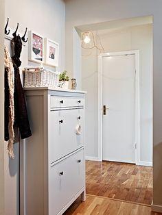 Hemnes shoe cabinet. Cute idea for entry near garage.