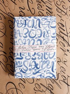 DIY: Calligraphy Wrapping Paper