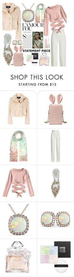 """""""Pretty Pastels"""" by marta7chi ❤ liked on Polyvore featuring Armani Jeans, Etro, Brandon Maxwell, René Caovilla, Allurez, Guerlain, Givenchy, Physicians Formula and statementcoats"""
