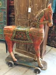 Image result for painted indian wooden horse
