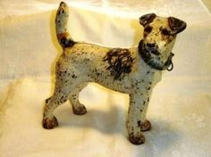 fox terrier vintage cast iron doorstop