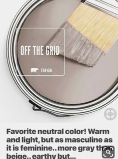 Off The Grid - Behr paint. Neutral, warm, light, more grey than beige, earthy