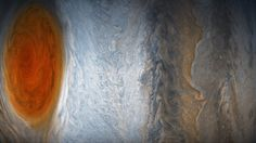 Here are NASA's newest photos of Jupiter and its Great Red Spot. From just 5,600 miles away, NASA's Juno mission offers a new look at the planet's famous Great Red Spot storm and also the swirl of hurricanes in Juno's Eye. These photos were taken on July 10, 2017.