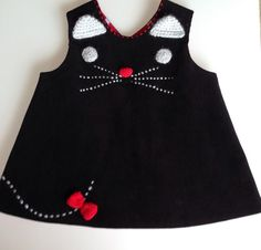 1 to 12months cat dress,  cat baby dress , babies clothing, kitty dress
