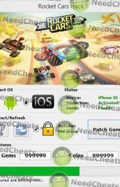 Rocket Cars Hack Download:  http://needcheats.net/rocket-cars-cheats-unlimited-gems-coins-ios/
