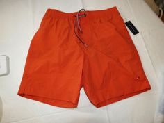 Men's swim trunks board shorts Tommy Hilfiger NEW L large 78B4458 810 orange #TommyHilfiger #Trunks