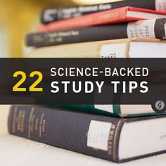22 Science-Backed Study Tips to Ace a Test Shana Lebowitz December 2013 College Hacks, School Hacks, College Success, Learning Tips, Best Study Tips, College Survival, Survival Prepping, Survival Skills, Study Skills