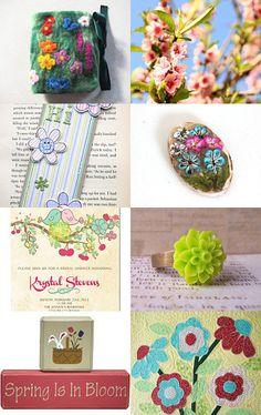 --Pinned with TreasuryPin.com Krystal, Spring Flowers, Coin Purse, Bloom, Purses, Etsy, Handbags, Crystal, Purses And Handbags