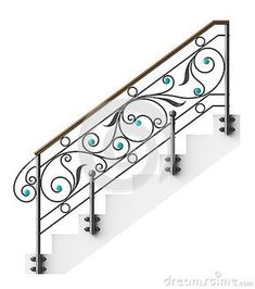 Wrought iron stairs railing by Egorovajulia, via Dreamstime