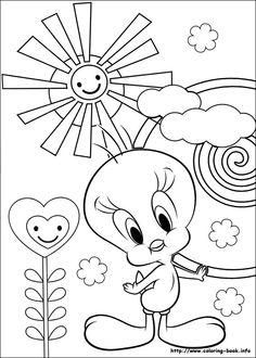 para pintar en primavera tweety bird and crayons