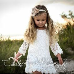 The Chloe Lace Flower Girl Dress
