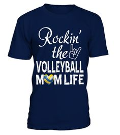 """# ROCKIN' THE VOLLEYBALL MOM LIFE .      Special Offer, not available anywhere else!        •BASKETBALL•FOOTBALL•SOCCER•BASEBALL• SOFTBALL•HOCKEY•LACROSSE•VOLLEYBALL  • TENNIS• CHEER(+) Need different title ? Click here to visit store!  Available in a variety of styles and colorsBuy yours now before it is too late!Secured payment via Visa / Mastercard / Amex / PayPalHow to place an order  Choose the model from the drop-down menu  Click on """"Buy it now""""  Choose the size and the…"""