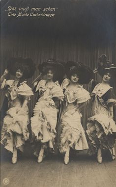 Love how well their generously sized hats compliment the fullness of their ruffled pettiskirts