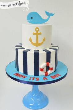 Ahoy Its a Boy Baby Shower Cake