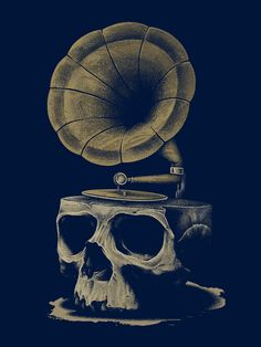Illustration - Skull - Introductory Song of Death on Behance