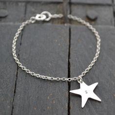 Personalised Star Bracelet. Gemwaith WYN Jewellery