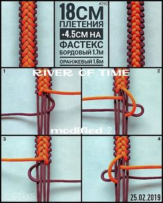 Reposted from - River of time modified времени модификация . Paracord Weaves, Paracord Braids, Paracord Knots, Paracord Keychain, Paracord Tutorial, Macrame Tutorial, Bracelet Tutorial, Yarn Bracelets, Paracord Bracelets
