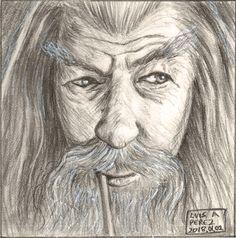 Gandalf - Daily Drawing 2018. #art #drawing #gandalf #fantasy #ianmckellen #illustration #lordoftherings #lotr #middleearth #mithrandir #thefellowshipofthering #wizard