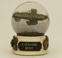 Scavenger Hunt - One of a Kind snow globe/waterball with airship and junkyard. $285,00, via Etsy.