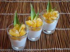 Panna cotta coco citron vert, ananas caramélisé vanille Bourbon et rhum blanc : la recette facile