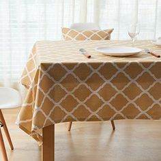 ColorBird Geometric Series Moroccan Pattern Cotton Linen Tablecloth For  Dining Kitchen Living Decorative Tabletop Cover (