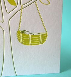 Letterpress Newborn Baby Card