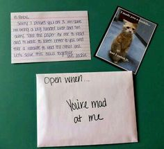 This is a cute way of reminding each other you still love each other.... even when you're mad!!