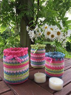 Crochet Club: summer nightlight jars
