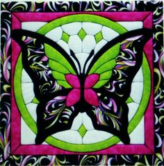 1 quilt Square butterfly block