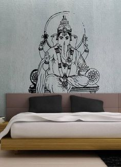 Ganesh Ganesha Elephant Lord of Success Hindu Hand God Buddha Indian Design Wall Vinyl Decal Art Sticker Home Modern Stylish Interior Decor for Any Room Smooth and Flat Surfaces Housewares Murals Design Graphic Bedroom Living Room (4147) stickergraphics http://www.amazon.com/dp/B00IMKHQQQ/ref=cm_sw_r_pi_dp_1IuVtb1P9ZG4A12D