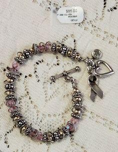 e05b84d43 Elisa Ilana Breast Cancer Pink Swarovski Crystals Sterling Silver Bracelet  #ElisaIlana #Awareness