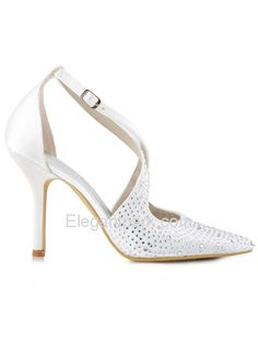 3a04554b917835 WEDOPUS HC1513 Women s Pointed Toe High Heel D Orsay Strap Rhinestone  Buckles Satin Pumps Shoes
