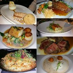 Blue Water Cafe - Vancouver, BC, Canada. Coffee marscapone macaron. Sable fish. Parmesan crusted scallops. Short ribs.  Trout. Wagyu beef. Lobster bisque