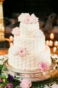 Wedding Cake (Pink and White)