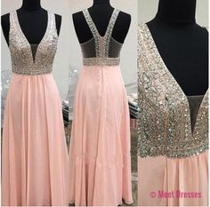 Blush Pink Prom Dresses,Open Back Prom Gowns,Pink Prom Dresses,2018 Party Dresses 2018,Long Prom Gown,Open Backs Prom Dress,Straps Evening Gowns PD20184782