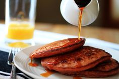 Quinoa and Beet Pancakes - great pink pancakes for Valentines or princess breakfasts