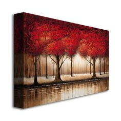 Rio 'Parade of Red Trees' Canvas Art | Overstock.com Shopping - Top Rated Trademark Fine Art Canvas