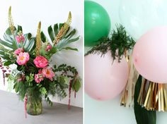 A Miami-style teenager's birthday party - flamingos, pineapples and balloons a-go-go. / Pea Green Boat