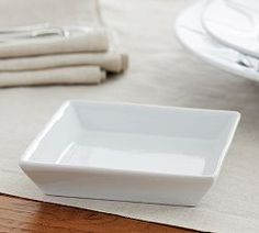 Table Accessories, Dining Accessories & New Tableware | Pottery Barn...(I'm using mine as soap dishes ...by gluing raised dots in the bottom to hold soap out of any water)