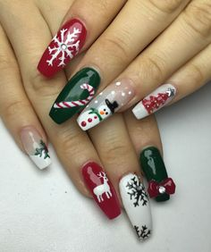 60 Christmas Nails Offers You a Special Look at the Festival - Chicbetter Inspir. , 60 Christmas Nails Offers You a Special Look at the Festival - Chicbetter Inspiration for Modern Women - Beauty - Christmas Gel Nails, Xmas Nail Art, Winter Nail Art, Holiday Nails, Winter Nails, Spring Nails, Summer Nails, Purple Nail, Ombre Nail