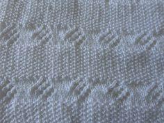 receita de manta de tricô para bebê