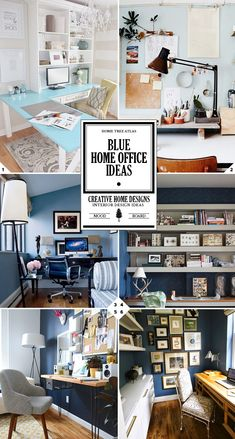 Blue Home Office Ideas and Designs