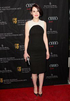 Michelle Dockery wore Stella McCartney at the BAFTA 2013 Awards Season Tea Party in Los Angeles.