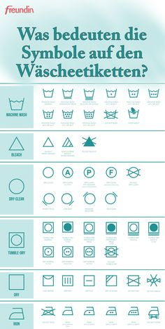 Was bedeuten die Symbole auf den Wäscheetiketten? Laundry Labels, Laundry Hacks, Home Organisation, Good Housekeeping, Moving Out, Window Cleaner, Smell Good, Good To Know, Cleaning Hacks
