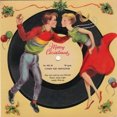 Get into the festive spirit with some visual inspiration from both kitsch and glam Christmas cards from Yuletides past.