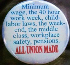 Union benefits are smart, so it's smart to buy union made and support unions, even if you're not in one right now.